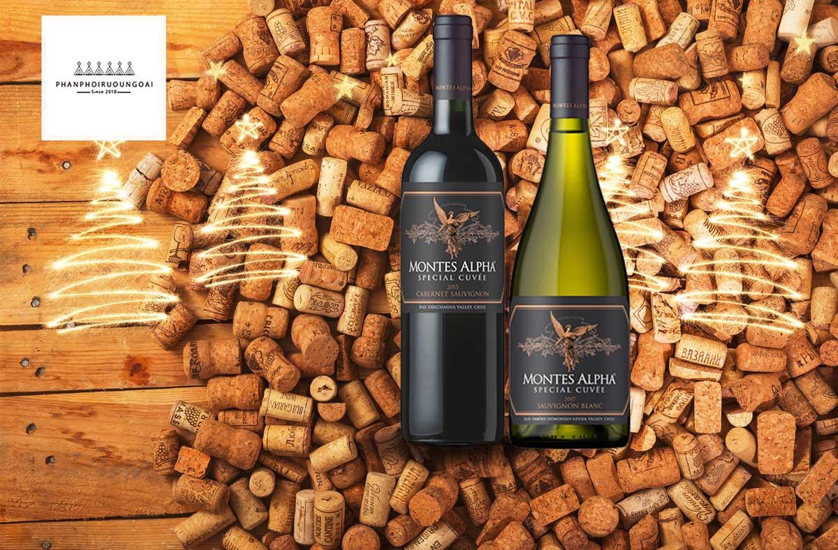 Rượu vang Montes Alpha Special Cuveé Sauvignon Blanc 2017 và nút chai