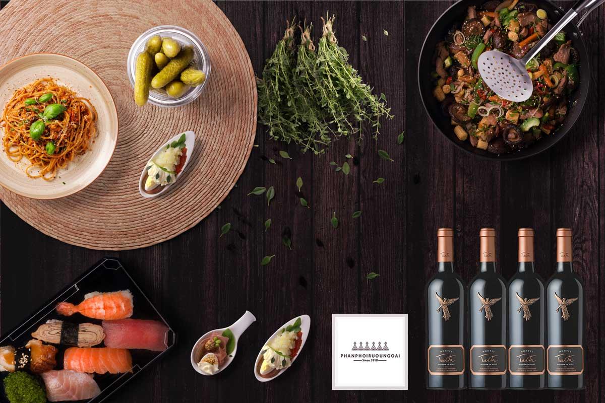Rượu vang Montes Icons Taita 2011 và món ăn ngon