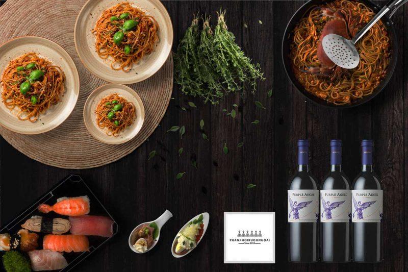 Rượu vang Montes Purple Angel 2015 và món ăn ngon
