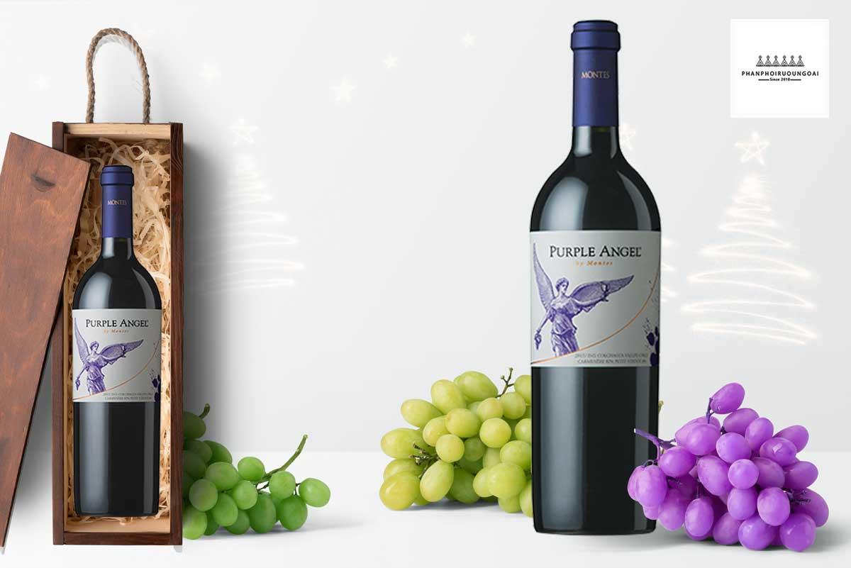 Rượu vang Montes Purple Angel 2015 - Icon Wines -hộp gỗ