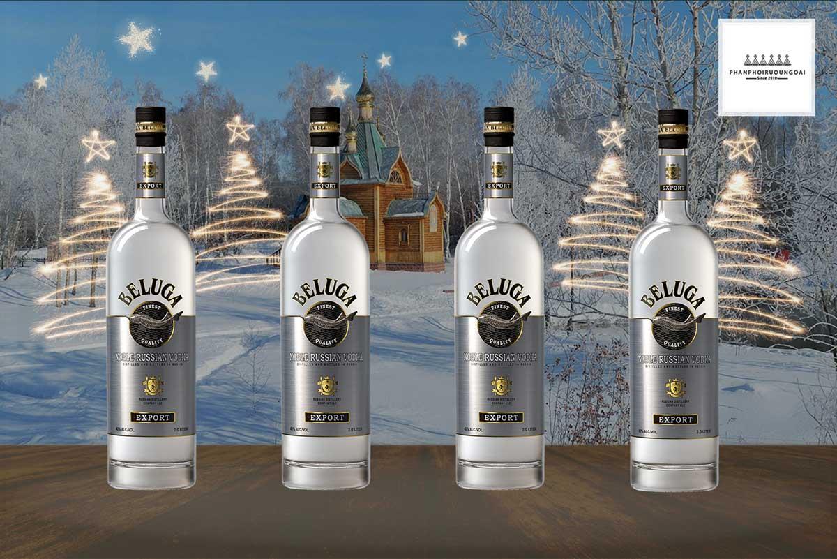 Rượu Vodka Beluga Noble 3 Lít sản phẩm hướng đến việc trưng bày tủ rượu gia đình và nhà hàng khách sạn