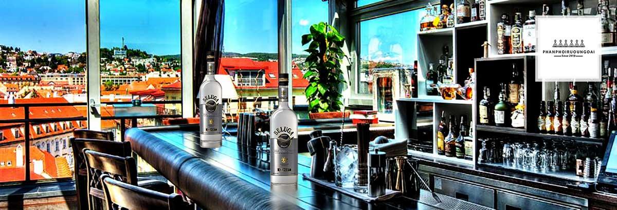 Rượu Vodka Beluga 3 L cho việc trưng bày trong nhà hàng