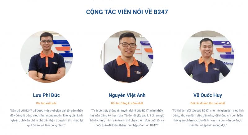 Đội ngũ của công ty B247