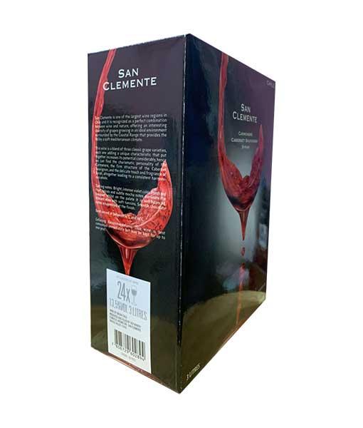Mặt bên trái rượu Vang Chile San Clemente