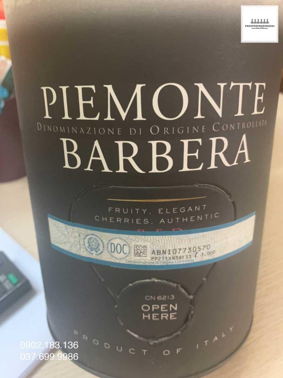 Rượu vang Bịch Ý Ricossa đạt tiêu chuẩn DOC cho rượu vang