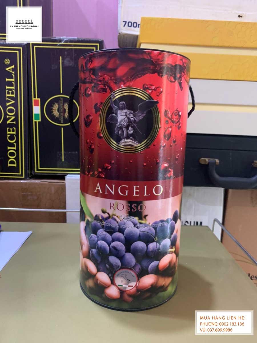 Ảnh thực tế của rượu vang bịch Ý Ngọt Angelo 3L
