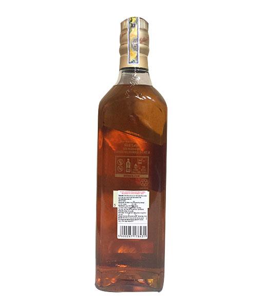 Mặt sau chai rượu hộp quà Johnnie Walker Red Label 2020