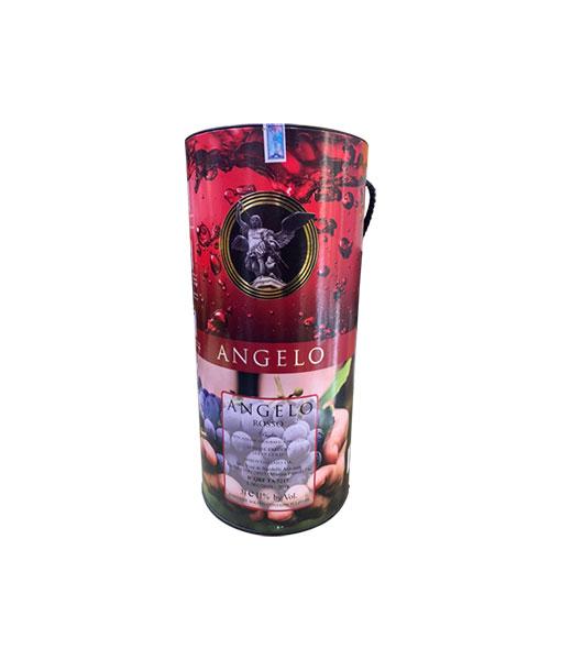 Mặt sau rượu vang Bịch Ý Ngọt Angelo 3L