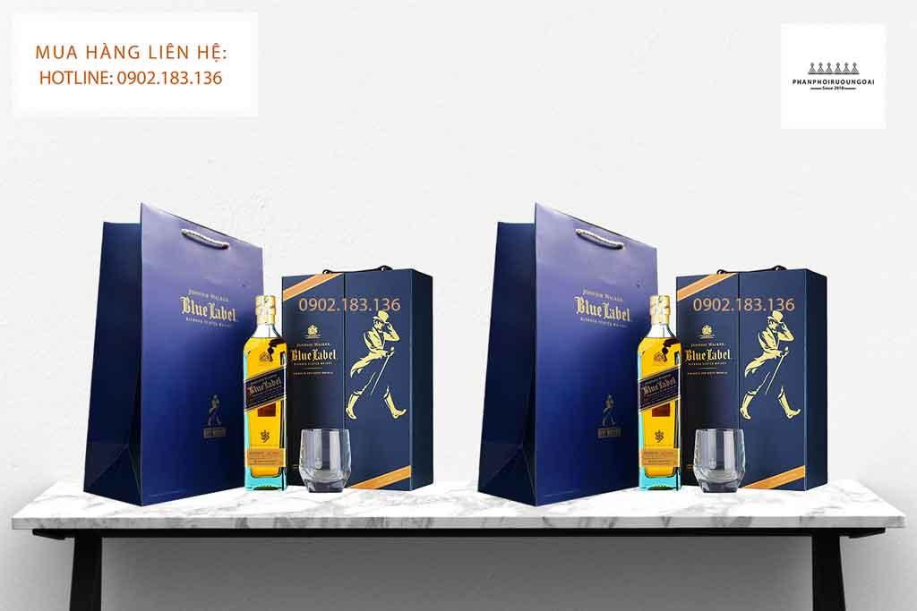 Rượu Johnnie Walker Blue Label hộp quà tết 2002 cao cấp