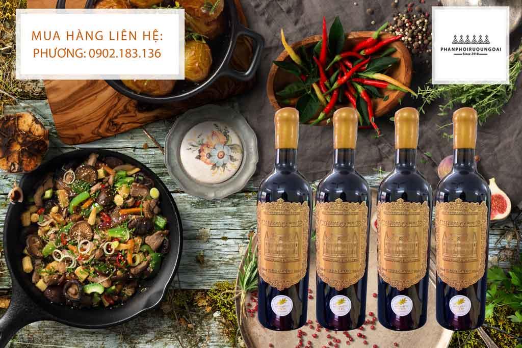 Rượu vang Pháp Charlottle Bordeaux và món ăn Việt Nam