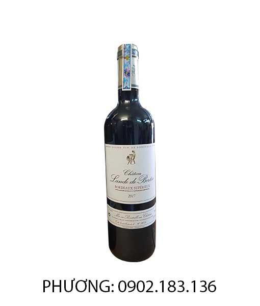 Rượu Vang Pháp Chateau Lande de Bertin đỏ