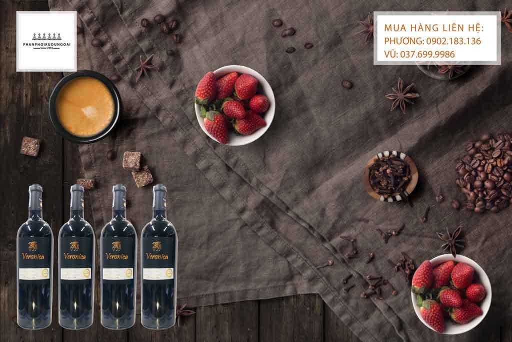 Rượu Vang Ý Ngọt Veronica hương vị ngọt ngào