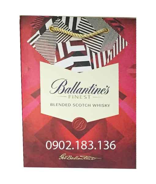 Túi giấy rượu Ballantine's Finest hộp quà tết 2020