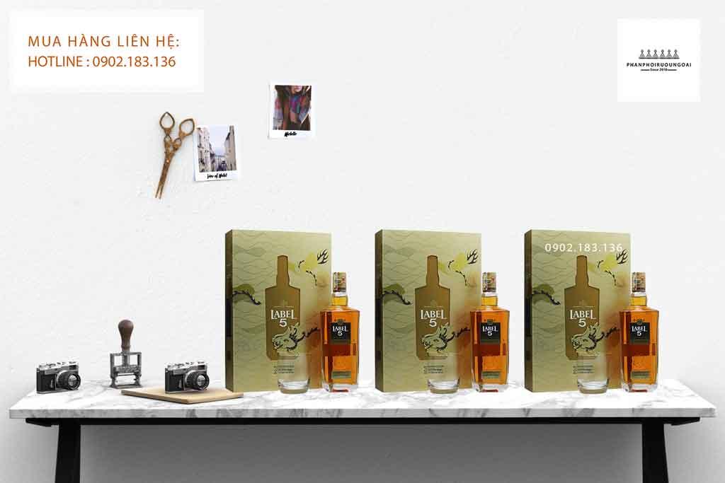 Ảnh rượu Label Gold Heritage hộp quà tết 2020