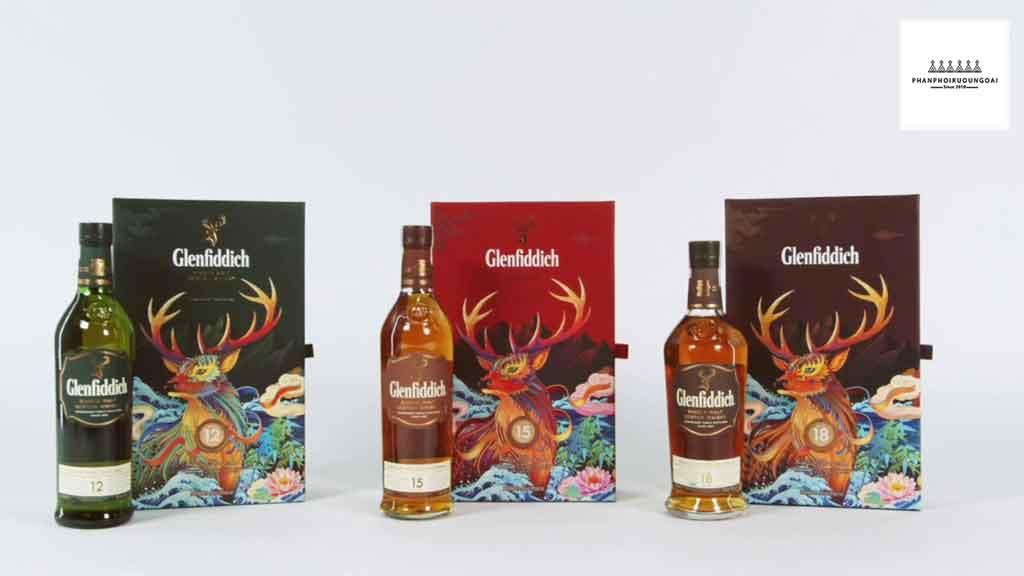 Các loại hộp quà tết của Rượu Glenfiddich trong năm 2020