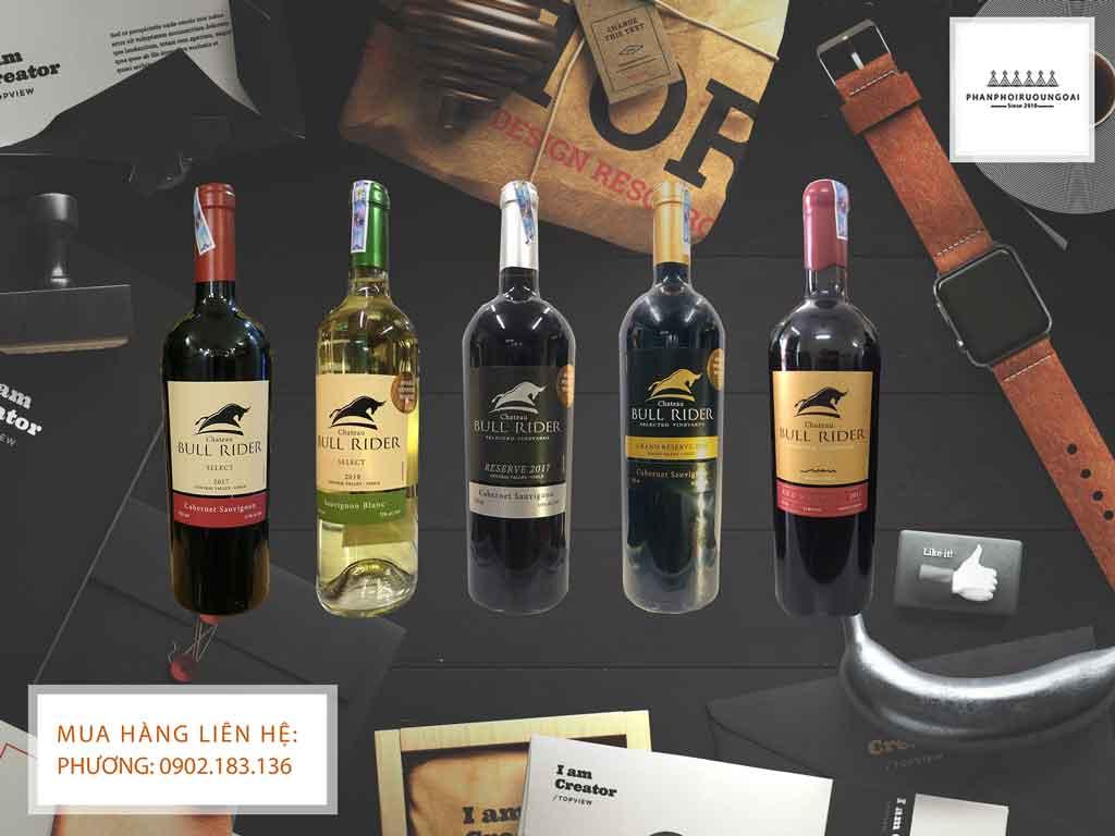 Các loại rượu Vang của nhà Chateau Bull Rider