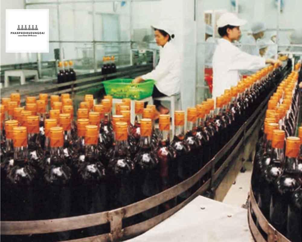 Dây chuyền đóng chai của rượu vang thăng long