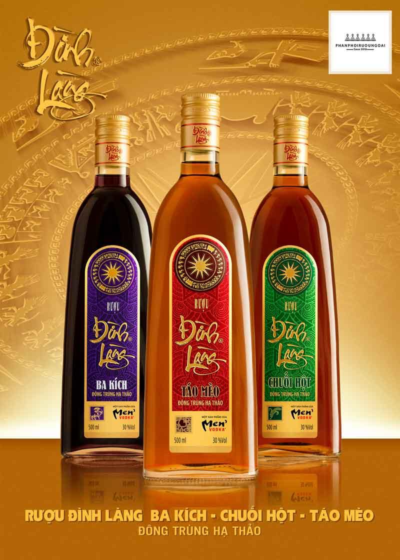 Dòng sản phẩm rượu Ngâm Cao Cấp Đình Làng