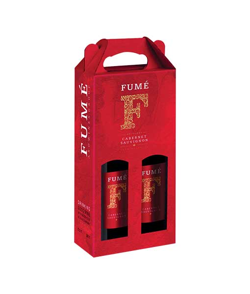 Hộp giấy 2 chai rượu vang Tây Ban Nha Fume Cabernet Sauvingon