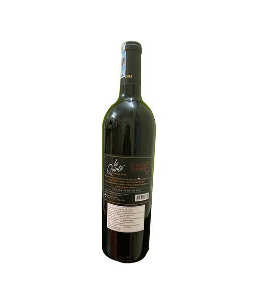 Mặt sau chai rượu vang Chile giá rẻ La Quinta Premium Plus