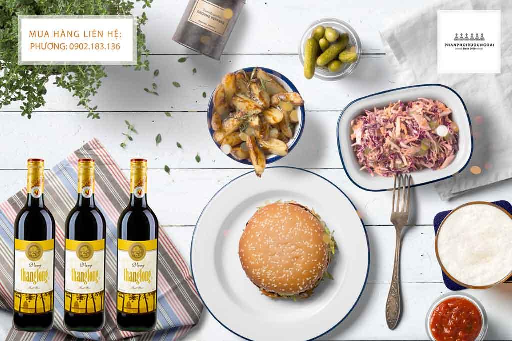 Món ăn và rượu vang thăng long cải tiến