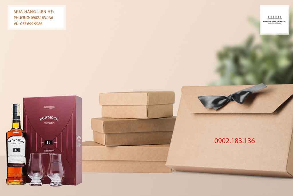 Rượu Bowmore 18 năm hộp quà tết 2020 cho biếu tặng