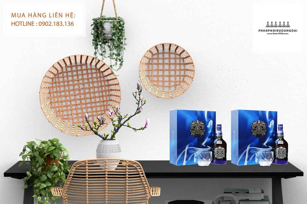 Rượu Chivas 18 Blue Signature hộp quà tết 2020 sang trong và lịch lãm