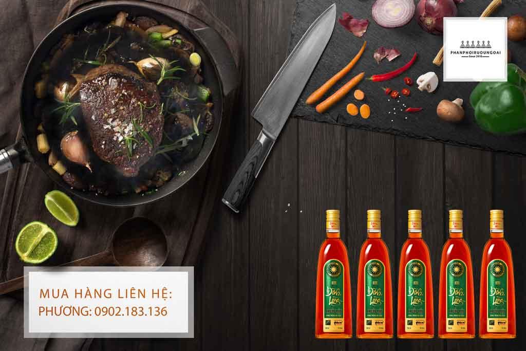 Rượu Đình Làng Chuối Hột Đông Trùng Hạ Thảo và món thịt bò bít tết 2020