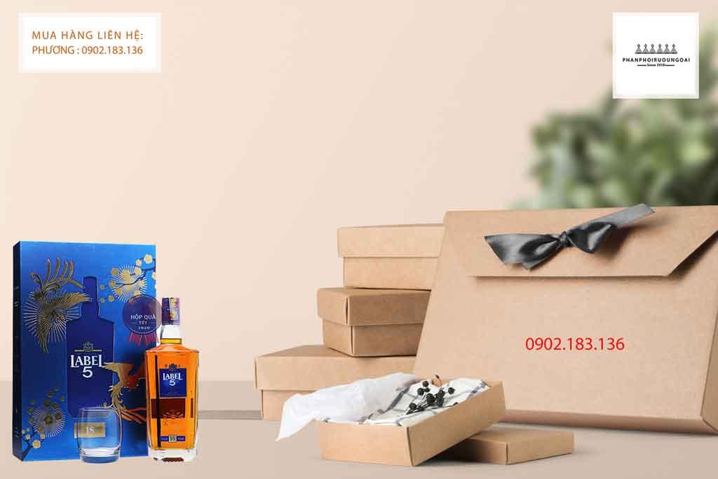 Rượu Label 5 18 năm hộp quà tết 2020 phù hợp cho biếu tặng