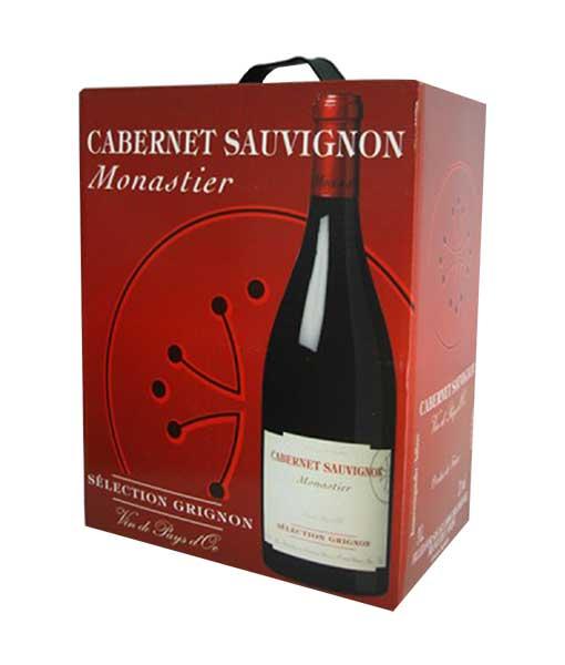 Rượu Vang Bịch Pháp Monastier Cabernet Sauvignon 3L