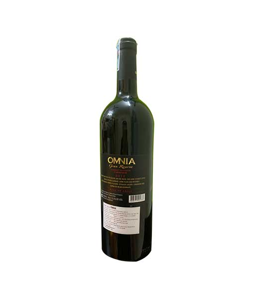 Mặt sau Chai Rượu Vang Chile Omnia Gran Reserva