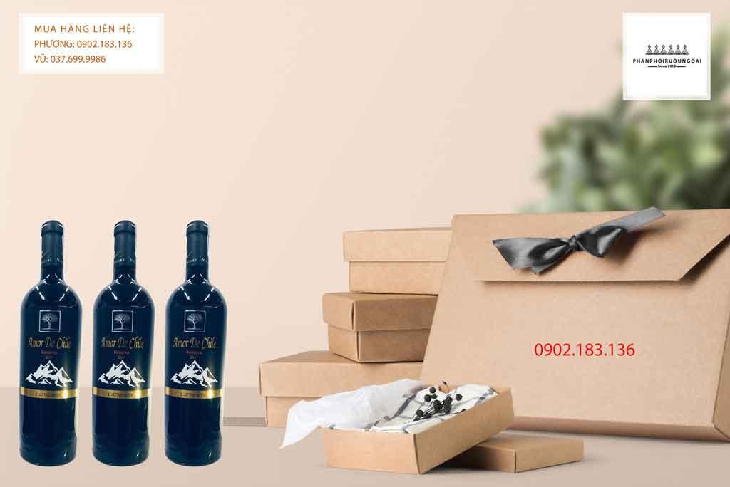 Rượu Vang Chile Amor de Chile Reserva Carmenere phù hợp cho biếu tặng 2020