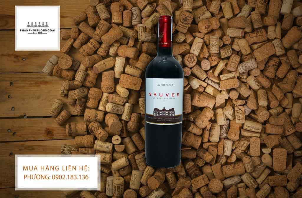Rượu Vang Pháp giá rẻ UG Bordeaux Sauvee