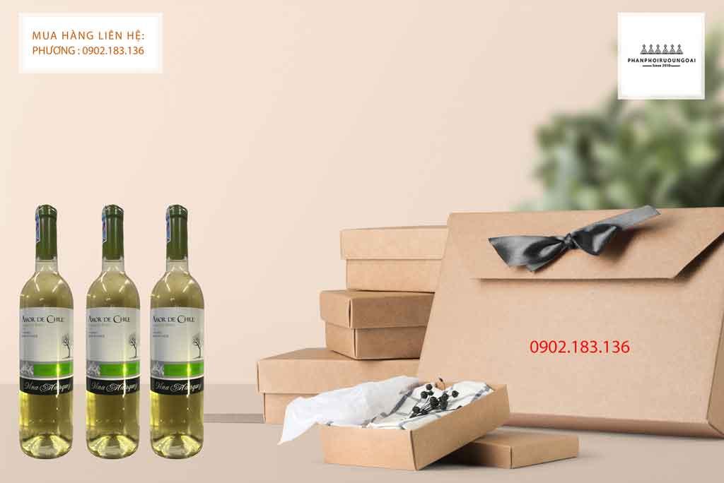 Rượu vang trắng Chile Amor de Chile Sauvingon Blanc thiết kế hiện đại 2020