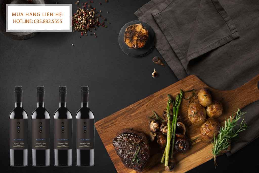 Rượu Vang Ý Luccarelli và thịt bò bít tết 2020