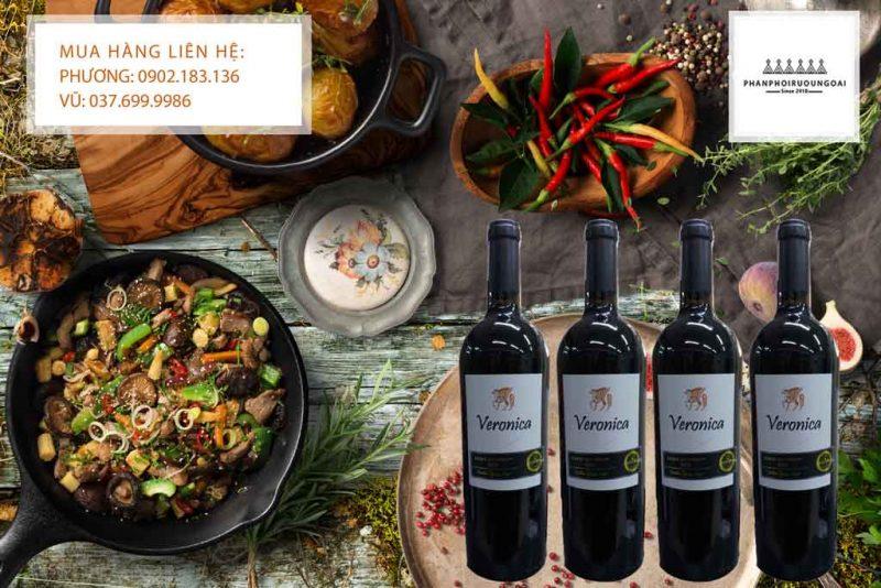 Rượu Vang Ý Veronica chát và các món ăn Việt Nam