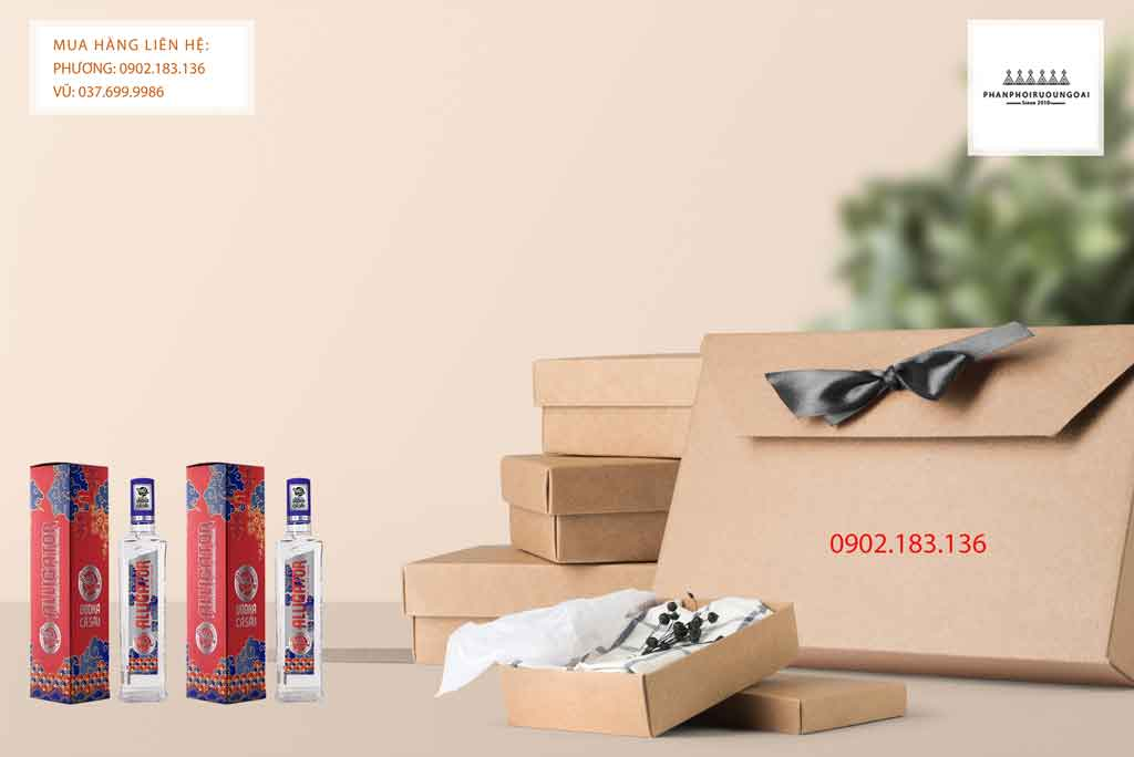 Rượu Vodka Cá Sấu Xanh hộp quà tết 2020 cho biếu tặng