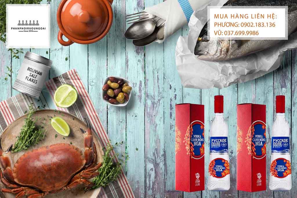 Rượu Vodka Cánh đồng Nga trong dịp tết nguyên đán 2020