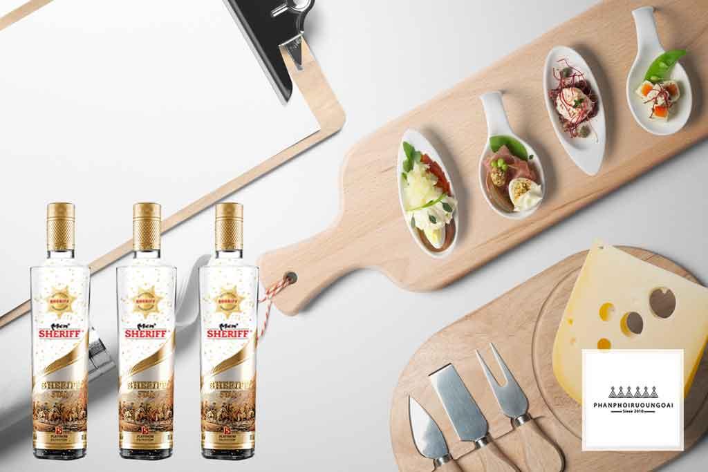 Rượu Vodka Men Sheriff Gold Sang trọng và lịch lãm 2020