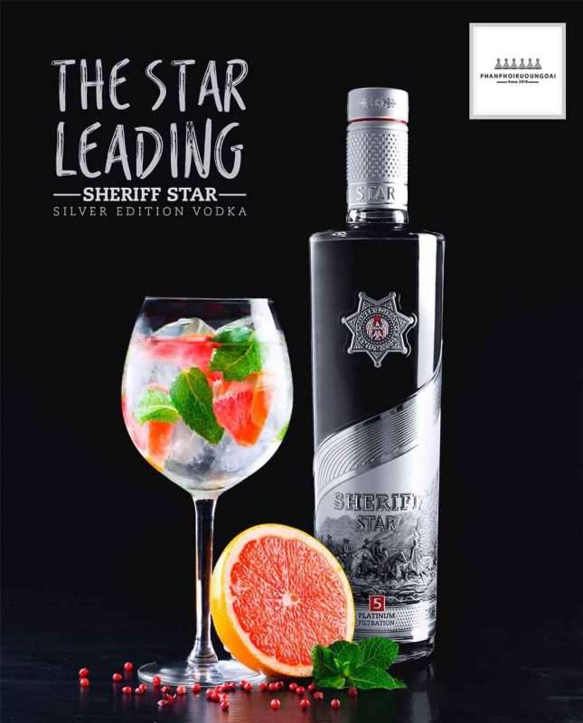 Rượu Vodka Men Sheriff Silver Star cho những ly cocktail mát lạnh 2020