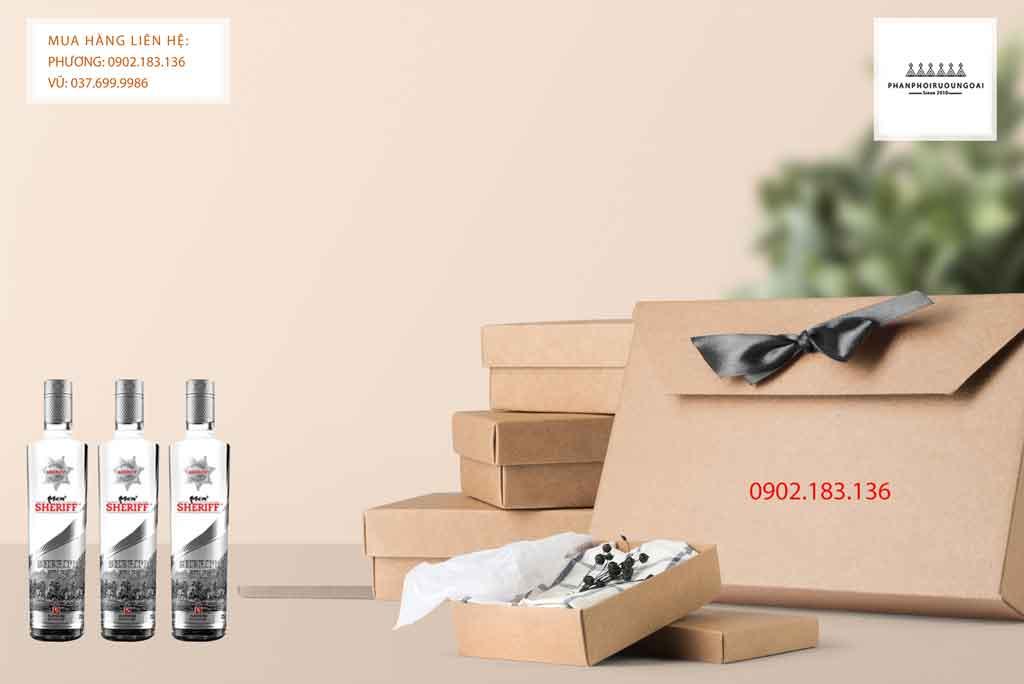 Rượu Vodka Men Sheriff Silver Star dùng cho nhà hàng hoặc biếu tặng 2020