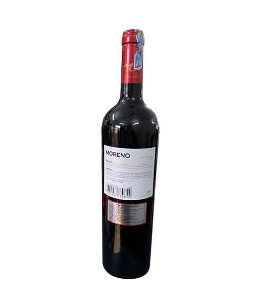 Mặt sau chai rượu Vang Chile Moreno Cabernet Sauvignon