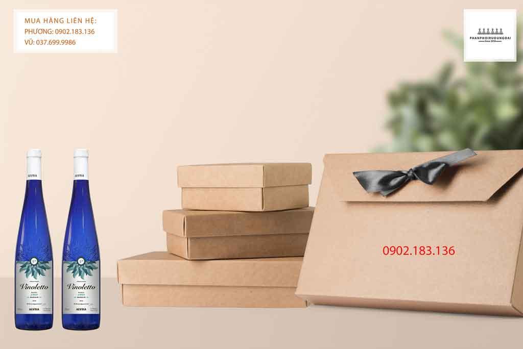 Rượu Vang Ngọt Tây Ban Nha Vinoletto Airen cho biếu tặng