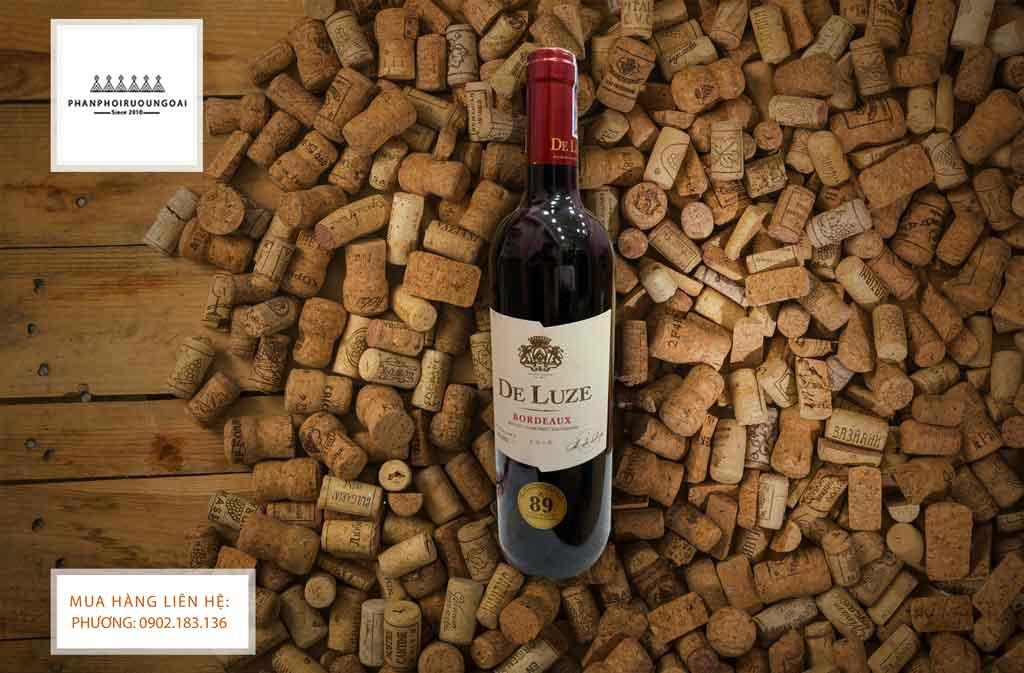 Ảnh Rượu Vang Pháp De Luze Bordeaux AOC Merlot Cabernet Sauvignon