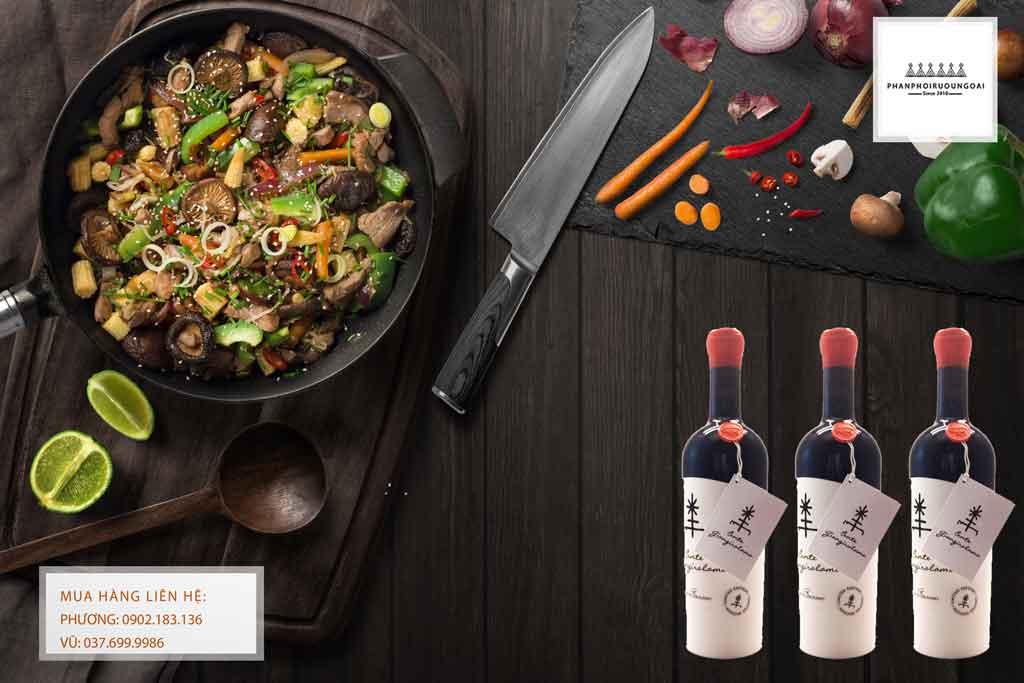 Ảnh Rượu Vang Ý Conte Giangirolamo Limited Edition và món ăn ngon