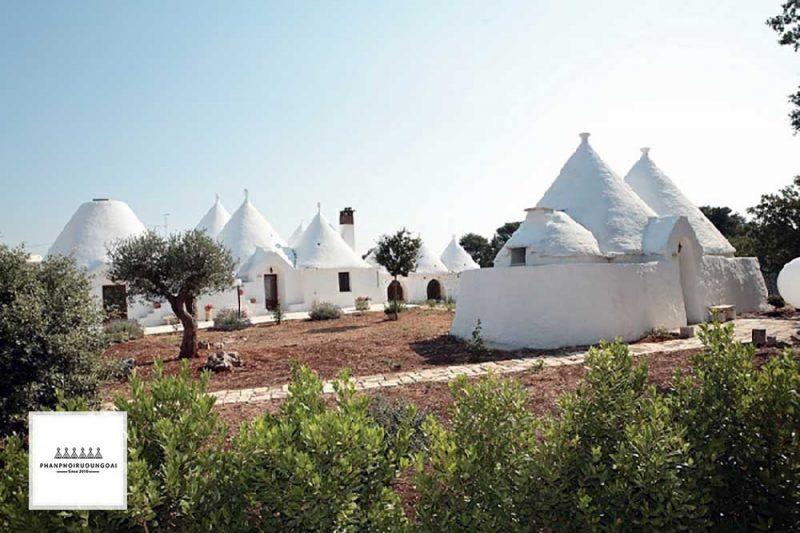 Các căn nhà tạm mang tên Casedde tại Itria Valley - Puglia