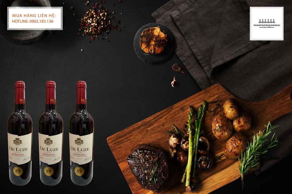Rượu Vang Pháp De Luze Bordeaux AOC Merlot Cabernet Sauvignon