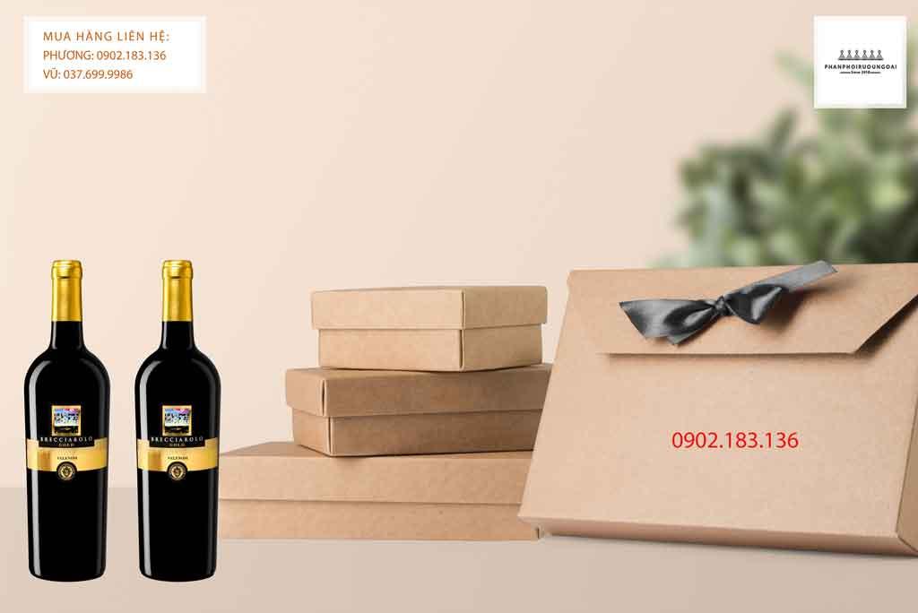 Rượu Vang Ý Brecciarolo Gold cho biếu tặng tết và các dịp lễ trong năm