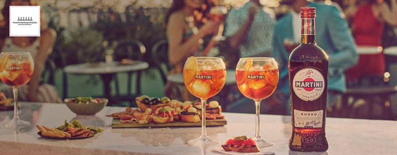 Ly Cocktail từ rượu Martini Rosso cho bữa tiệc tuyệt hảo với bạn bè