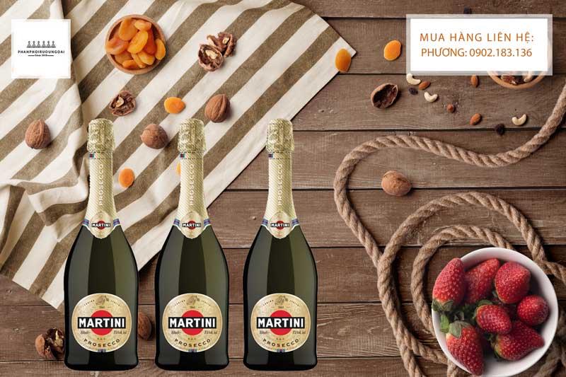 Rượu vang nổ Ý Martini Prosecco cho các bữa tiệc nhẹ